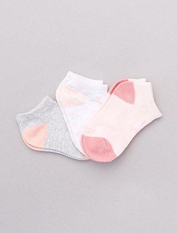 d4fd5fcd06de1 Fille 0-36 mois - Lot 3 paires de chaussettes - Kiabi