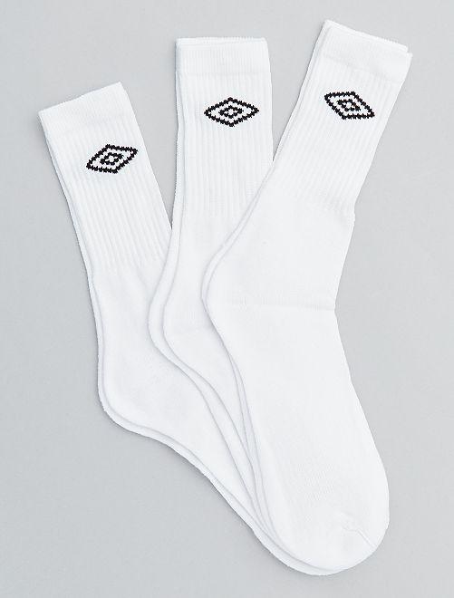 Lot 3 paires de chaussettes 'Umbro'                             blanc