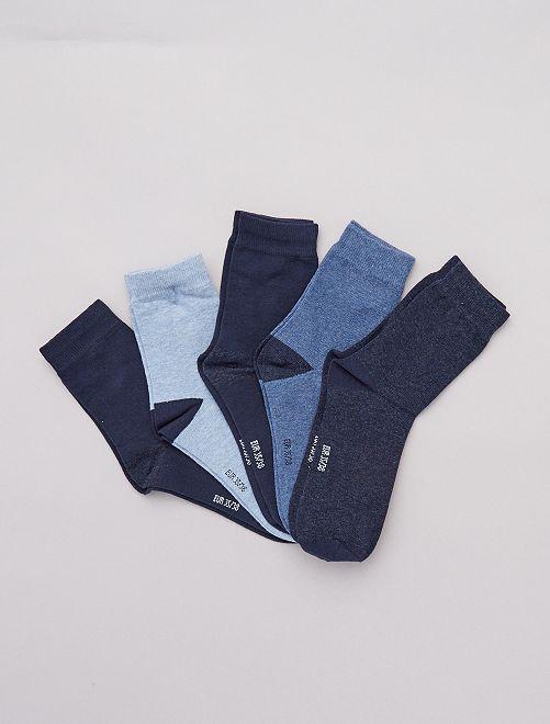Lot 5 paires de chaussettes                                         bleu