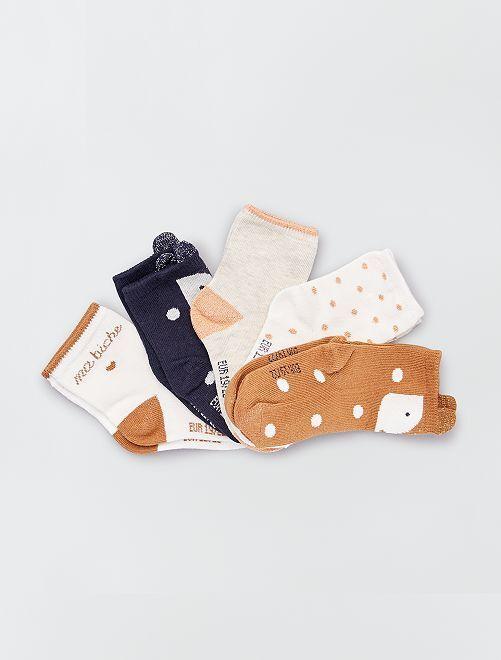 Lot 5 paires de chaussettes éco-conçues                                                                 animaux