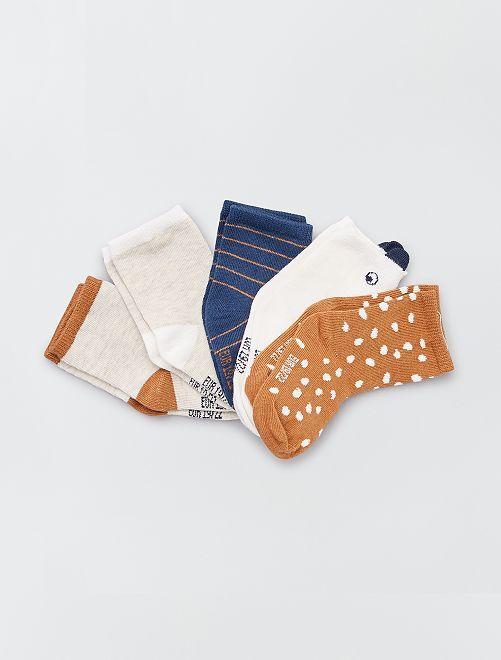 Lot 5 paires de chaussettes éco-conçues                                                                 foret