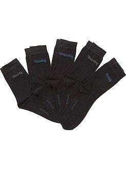 Chaussettes - Lot 5 paires de chaussettes 'jour de la semaine'