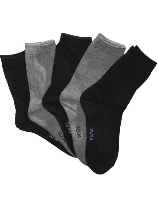 Lot 5 paires de chaussettes                             noir