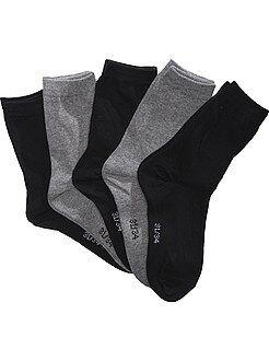 Garçon 4-12 ans Lot 5 paires de chaussettes