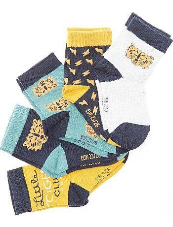 Lot 5 paires de chaussettes 'tigre' - Kiabi