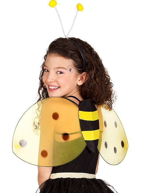 Lot ailes + serre-tête animal                                          abeille