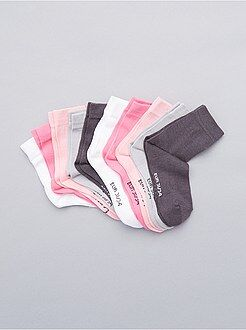 Lot de 10 paires de chaussettes unies - Kiabi