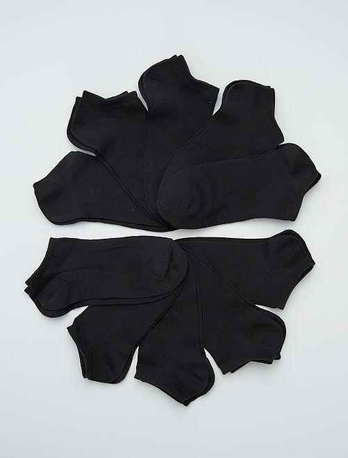 Lot de 10 paires de socquettes                                         noir