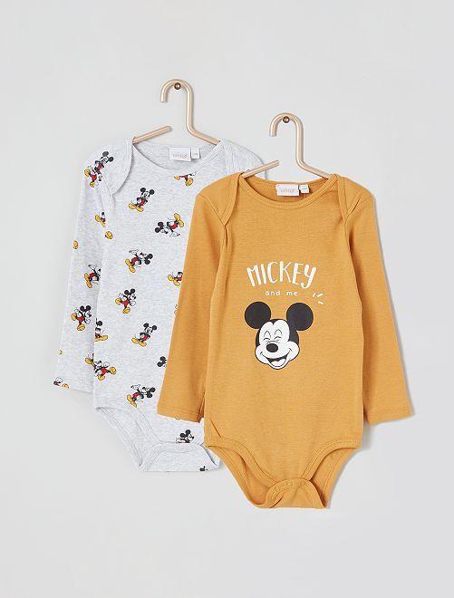 Lot de 2 bodies 'Mickey'                                                     jaune/gris mickey