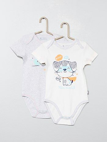 Lot de 2 bodies `Petit Beguin`