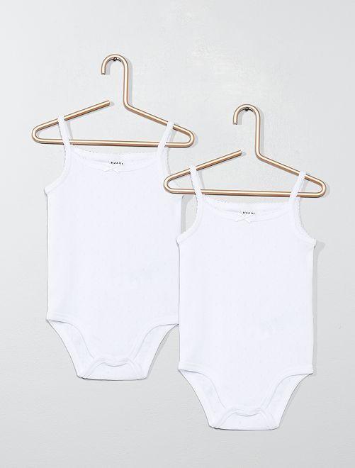 Lot de 2 bodies pur coton                                         blanc