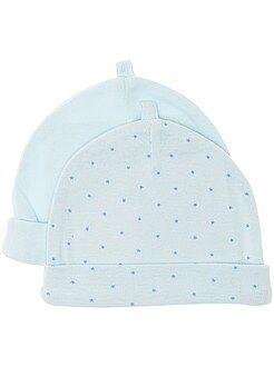 Prématuré - Lot de 2 bonnets en coton bio - Kiabi