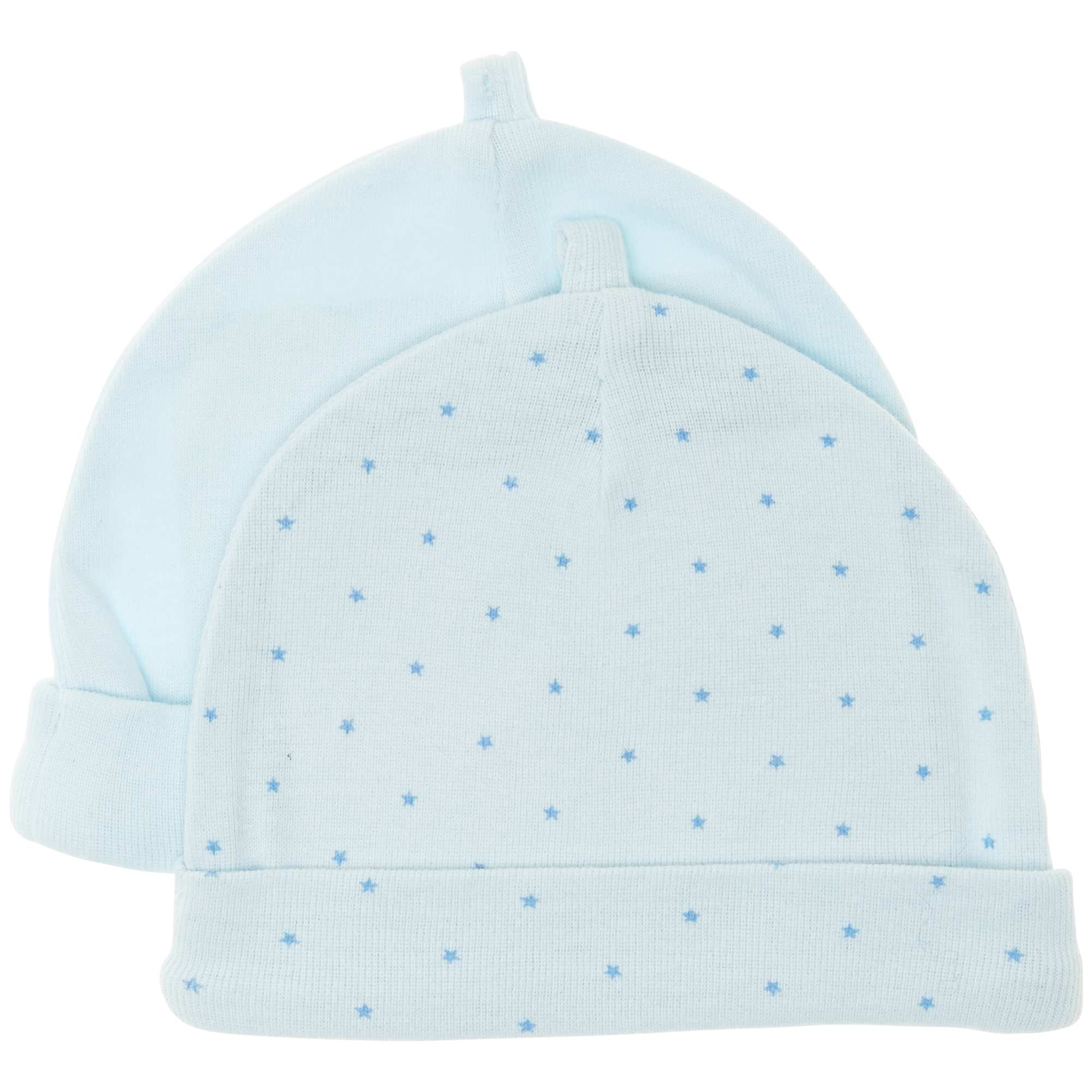 f837db4a283 Lot de 2 bonnets en coton bio Bébé garçon - bleu - Kiabi - 4