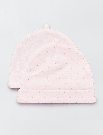 Lot de 2 bonnets en coton bio - Kiabi