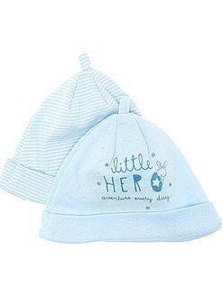 Prématuré - Lot de 2 bonnets naissance - Kiabi