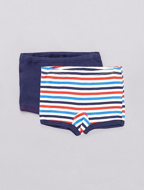 Lot de 2 boxers 'Absorba'                             bleu marine