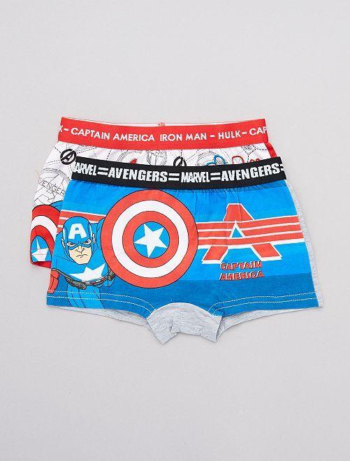 Lot de 2 boxers 'Avengers'                                         blanc/bleu