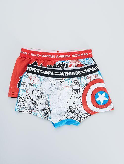 Lot de 2 boxers 'Avengers'                                         blanc/rouge