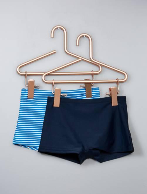 Lot de 2 boxers de bain                             bleu