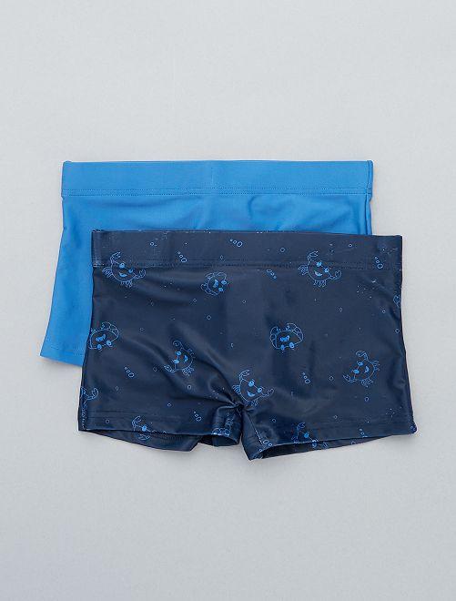 Lot de 2 boxers de bain                                         bleu Garçon