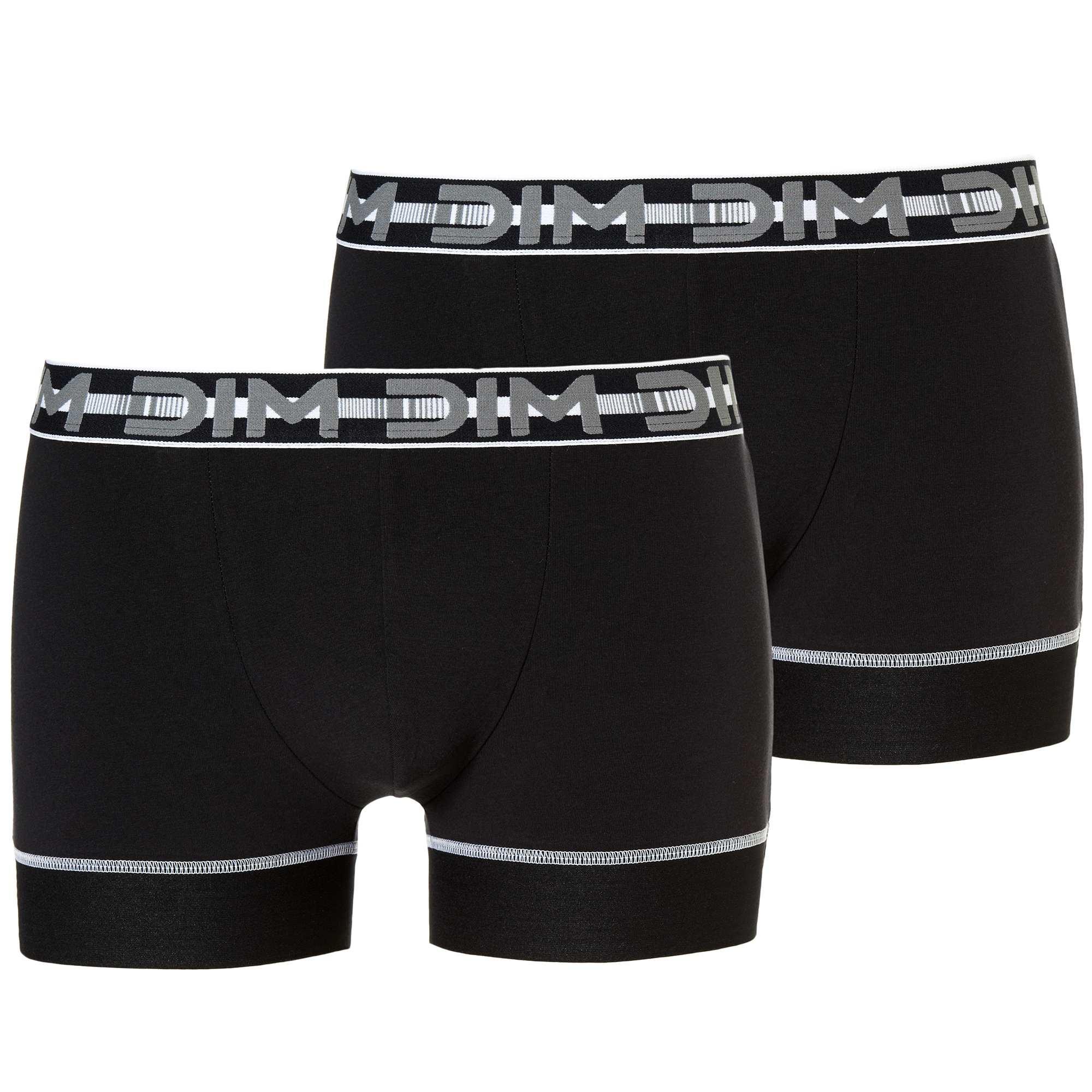 Couleur : noir, , ,, - Taille : XXL, S, M,,Les boxers 'Dim' en 'Coton 3D Flex' permettent une adaptation parfaite aux mouvements