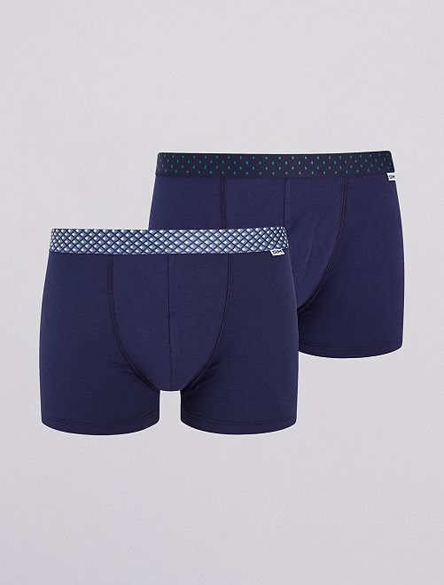 Lot de 2 boxers 'Dim'                             bleu