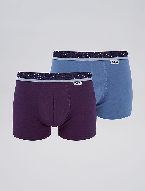 Lot de 2 boxers 'Dim'                                                     bleu/violet