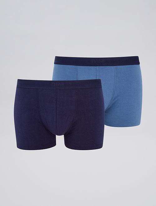 Lot de 2 boxers 'DIM' soft power                                         marine/bleu