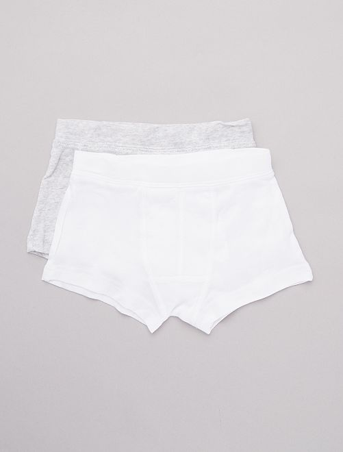 Lot de 2 boxers 'éco-conception'                                         blanc/gris