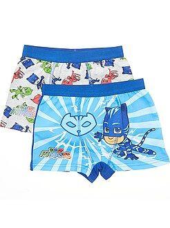 Sous-vêtement - Lot de 2 boxers en coton 'Pyjamasque' - Kiabi