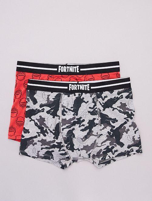 Lot de 2 boxers 'Fortnite'                             gris