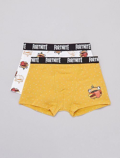 Lot de 2 boxers 'Fortnite'                             jaune