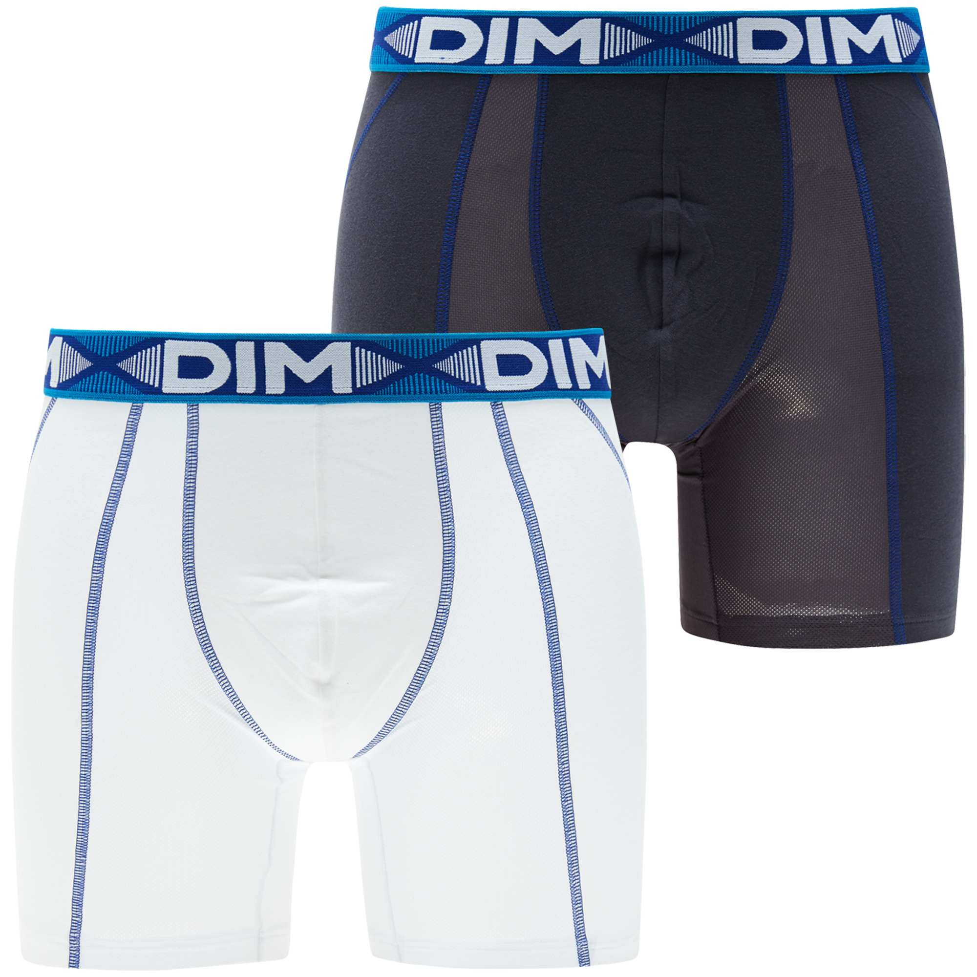 Lot de 2 boxers longs 'Dim 3D Flex Air' Homme