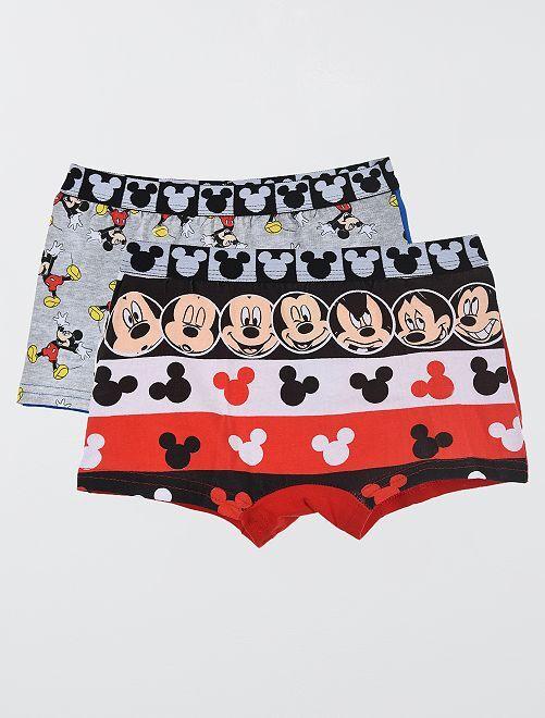 Lot de 2 boxers 'Mickey'                                         bleu/rouge