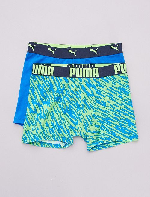 Lot de 2 boxers 'Puma'                             bleu/vert