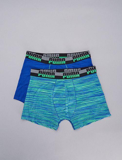 Lot de 2 boxers 'Puma'                             bleu/vert Homme