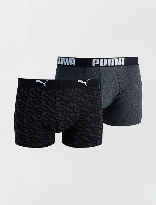 Lot de 2 boxers 'Puma'                                         gris/noir