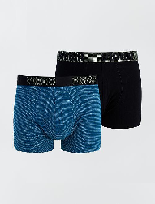 Lot de 2 boxers 'Puma'                             noir/bleu