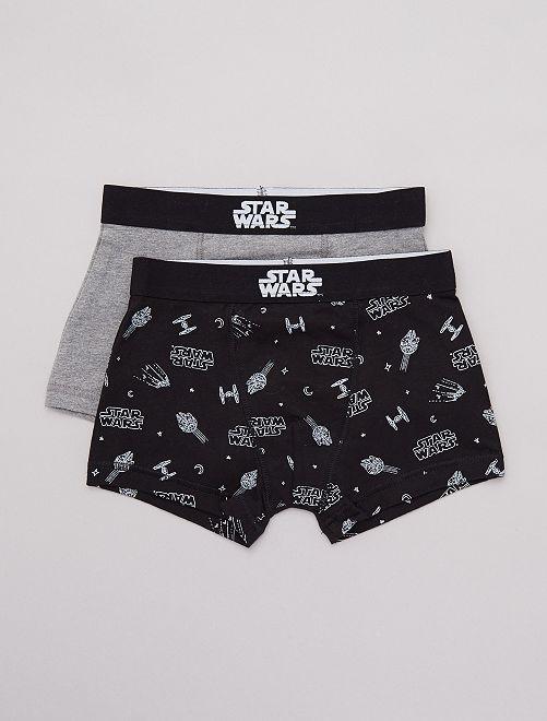 Lot de 2 boxers 'Star Wars'                             noir/gris
