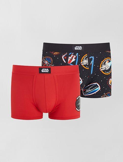 Lot de 2 boxers 'Star Wars'                             rouge/noir