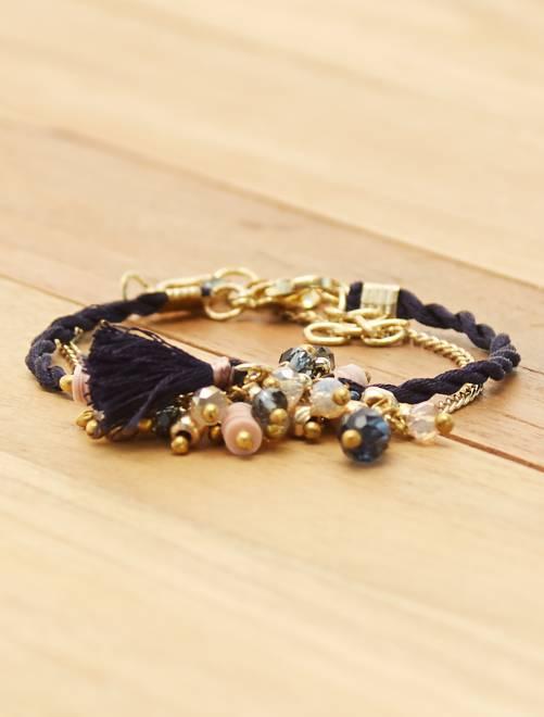 Lot de 2 bracelets                             BLEU