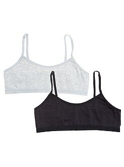 Lot de 2 brassières unies