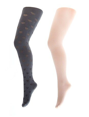 Lot de 2 collants fantaisie - Kiabi