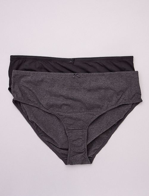 Lot de 2 culottes en coton                                         noir