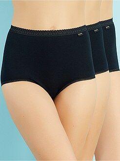 Grande taille femme - Lot de 2 culottes hautes + 1 gratuite 'Sans Complexe' - Kiabi