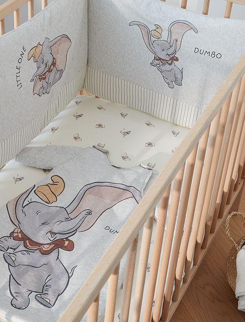 Lot de 2 draps-housses 60 x 120 cm 'Dumbo'                             dumbo