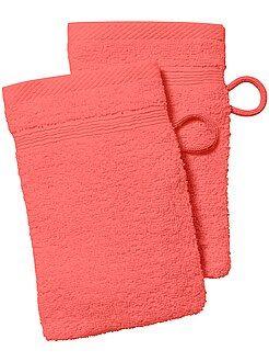 Serviettes de toilette - Lot de 2 gants de toilette