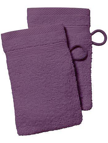 lot de 2 gants de toilette kiabi - Parure Lit 140x190