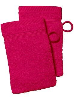 Serviettes de toilette - Lot de 2 gants de toilette