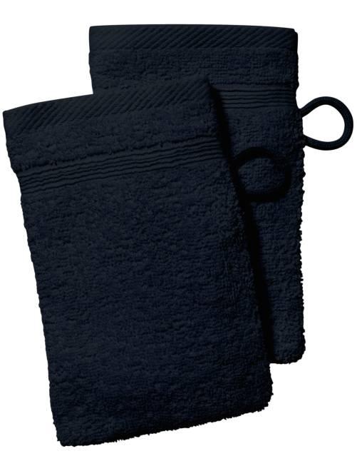 Lot de 2 gants de toilette                                                                                                                             noir